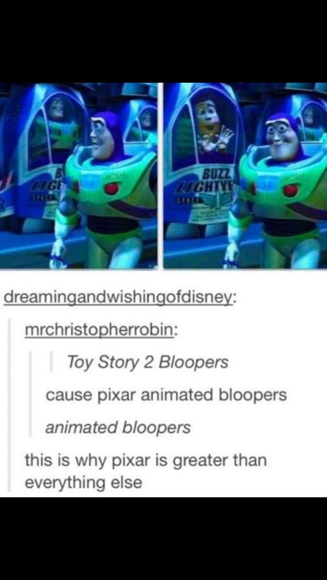And they did it for example for monsters inc Nothing's greater than disney