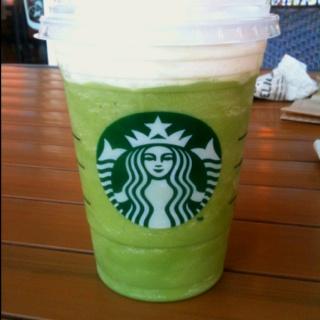 Green tea frappaccino!