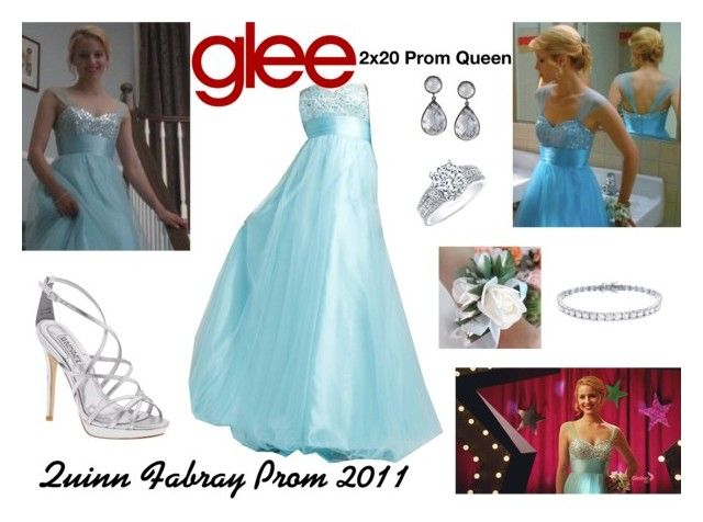 """""""Quinn Fabray (Glee) : Prom 2011"""" by aure26 ❤ liked on Polyvore featuring Badgley Mischka, Larkspur & Hawk, Natalie K and glee"""