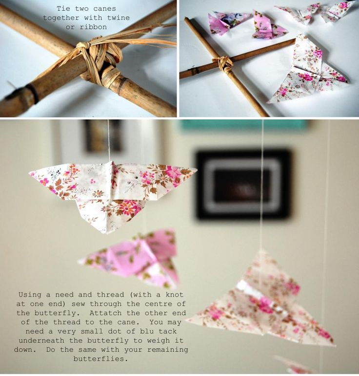 Origami butterflies! #tutorial #DIY