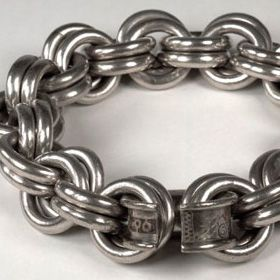 Pictish chain of silver found at Whitecleugh, Lanarkshire. Image from National Museums Scotland.