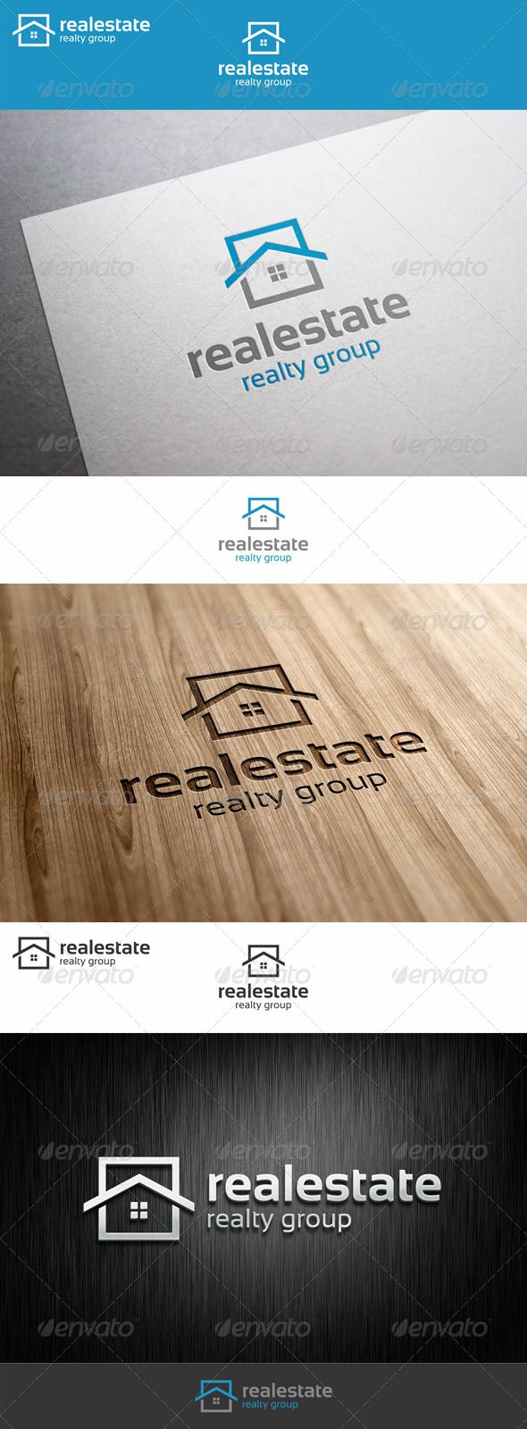 Real estate logo realty group