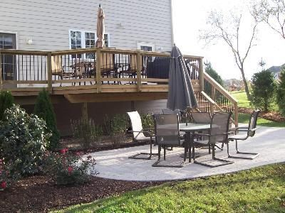 Paver Patio With Deck By Archadeck