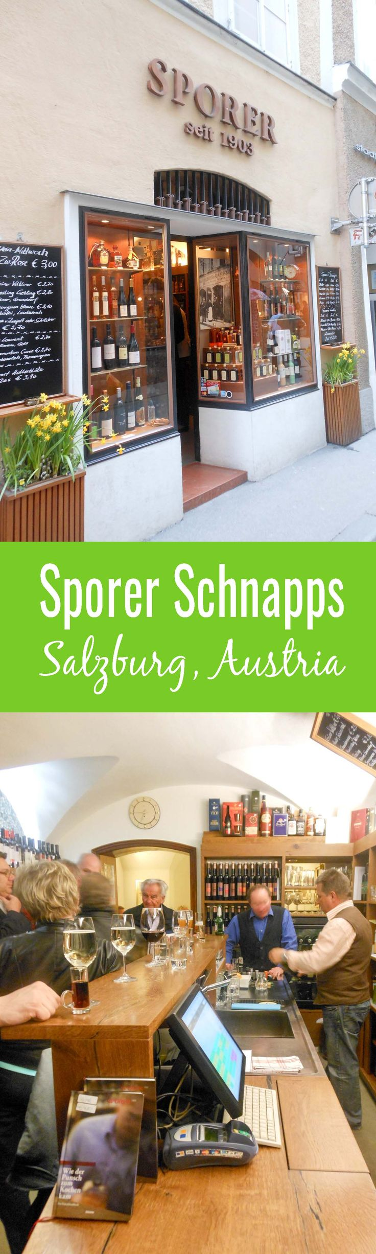 Sporer Salzburg is a must visit for a true taste of authentic schnapps. Sporer Schnapps is in the heart of Salzburg and will not disappoint!