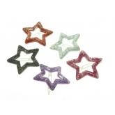 Haar clip ster met glitters $2,95 Leuk voor de Kerst, nieuw Spaans merk bij Spaansekinderkleding.nl