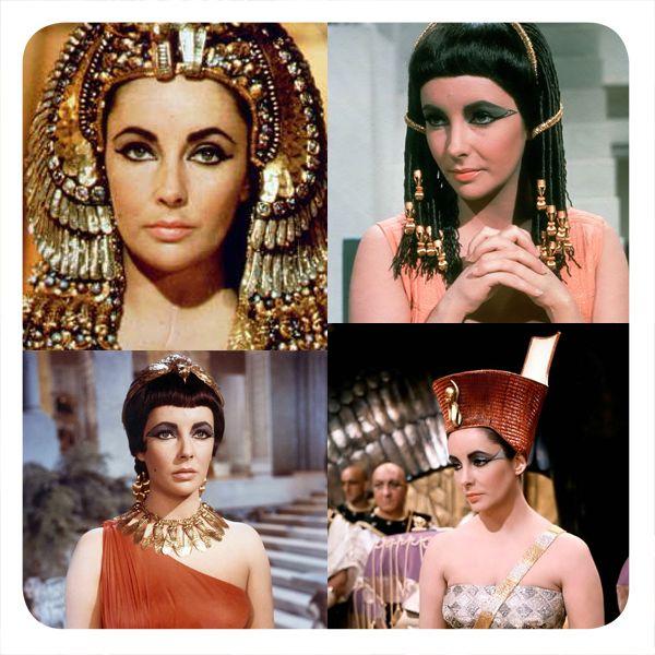 """Liz Taylor, con los peinados que Alexandre creo para ella en """" Cleopatra"""" ( 1963, Joseph L. Mankiewicz)."""