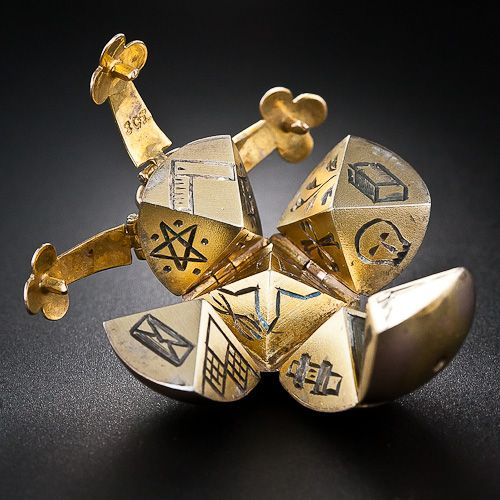Masonic Ball and Cross Pendant Charm (this is kinda crazy. . . )