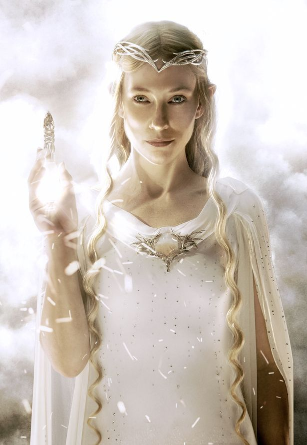 Cate Blanchett as Galadriel in The Hobbit: An Unexpected Journey (2012).