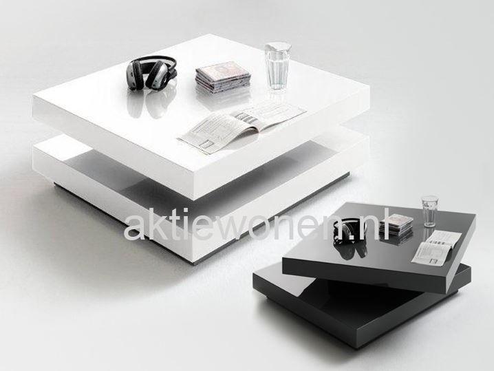Salontafels vierkant grijs of wit meubels woonkamer for Salontafel vierkant