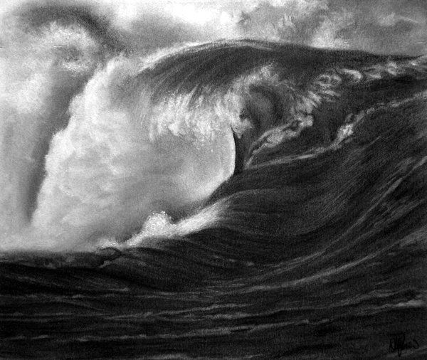 Wave Drawing by E777Y, Cool Wave Drawings for Inspiration, http://hative.com/wave-drawings/,