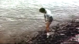 Mile 0.  Iconic image captured on video of Terry Fox April 12,1980 dipping his leg in the Atlantic to start the Marathon of Hope.