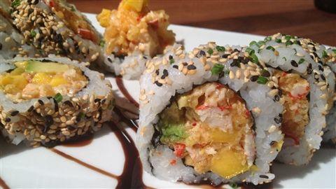 Maki guédille au homard et mangue, mayonnaise à l'ail épicée - Vendredi 7 juin 2013 - Chef Geneviève Everell