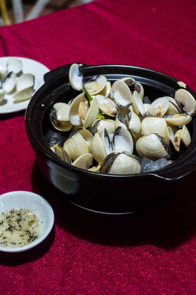Amazing lemongrass clams, Ben Tre, Vietnam