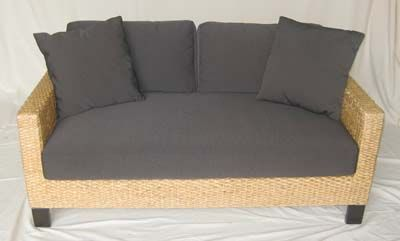 The woven details on this couch add a natural effect to any seating arrangement...