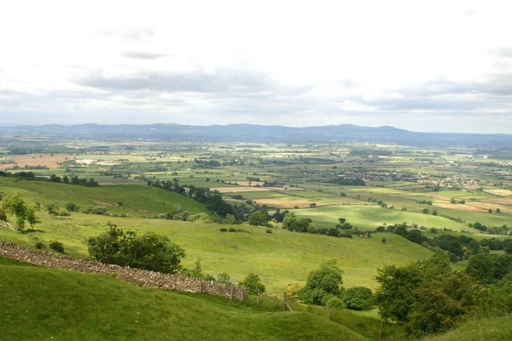 June view from the top of Bredon Hill