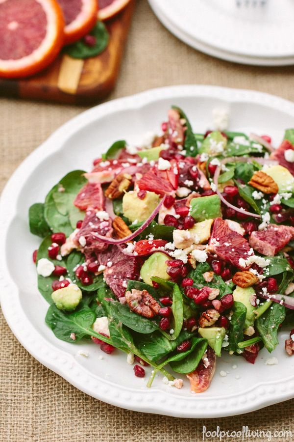 Baby Spinach Salad with Blood Oranges