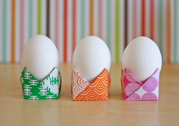 DIY :Easy origami egg holders