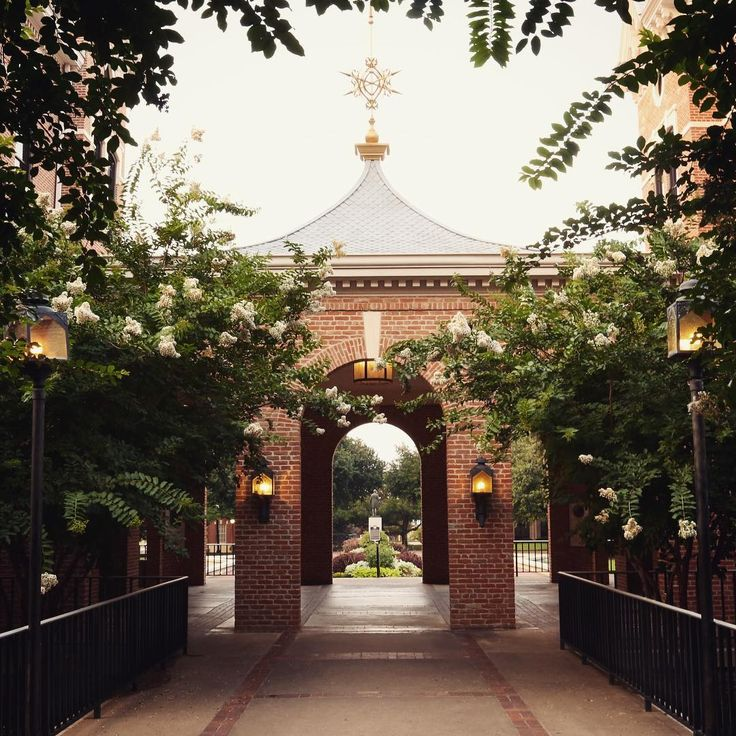 Old Main and Burleson Hall at Baylor University. This spot on campus is extremely popular for graduation, engagement, and wedding photos!