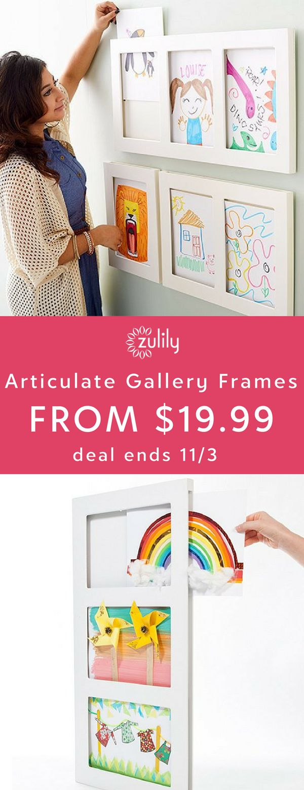 Sign up to shop frames for both classic photos and 3-D artwork by The Articulate Gallery — a brand that holds quality as their top priority. Their simple and clean designs are perfect for showcasing your little Picasso's latest masterpiece. Deal ends 11/3.