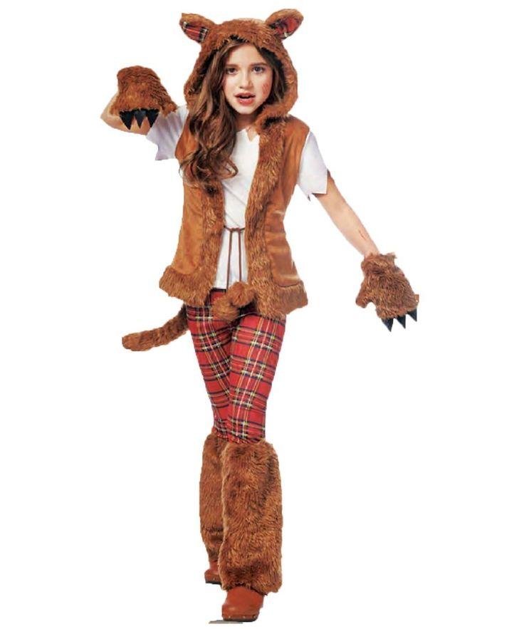 Howl-o-ween Werewolf Girls Costume