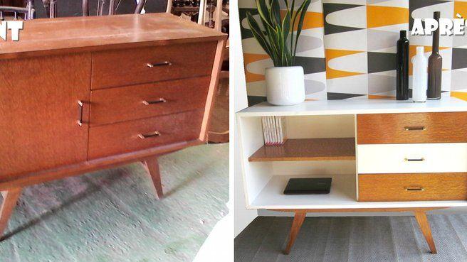 20 id es diy pour relooker un meuble chin relooking meubles pinterest buffet ann e 50. Black Bedroom Furniture Sets. Home Design Ideas