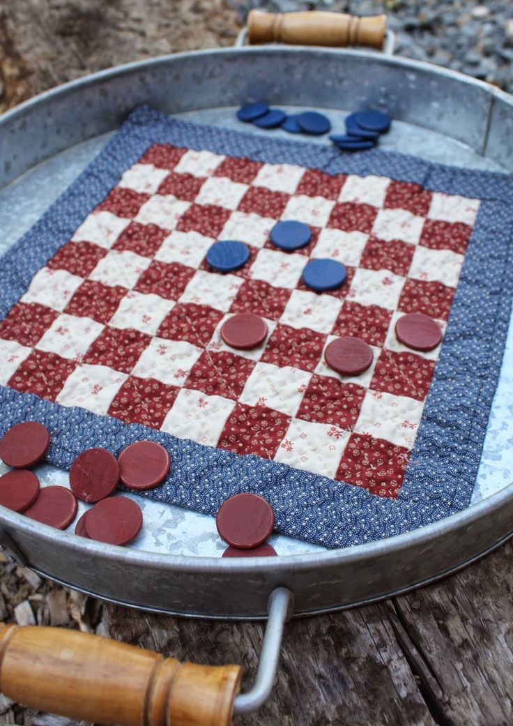Free directions for a Patriotic Fabric Checkerboard from Temecula Quilt Co.
