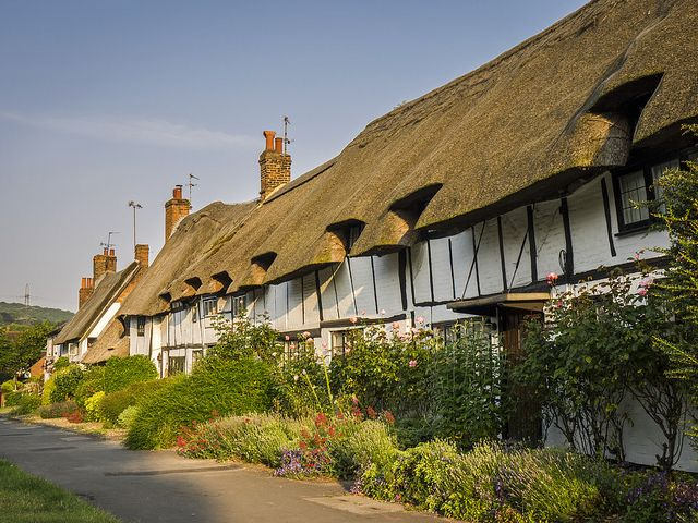 Anne Boleyn's Cottages Wendover, Buckinghamshire. Tradition is these cottages were given to Anne Boleyn as a wedding present from Henry VIII.