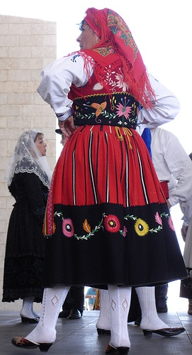 typical woman's costume  in Northern Portugal, specially in the Minho region.