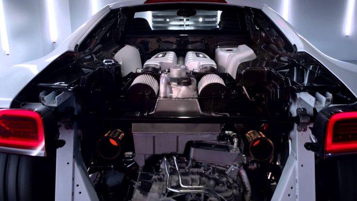 The new Audi R8 V10 plus, via YouTube.