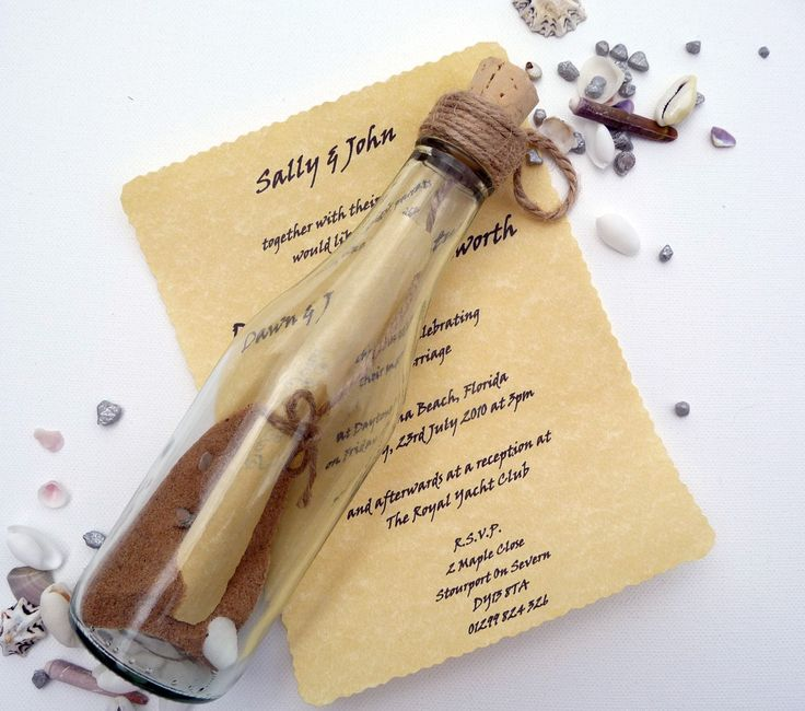 message in a bottle invitations | Double click on above image to view full picture