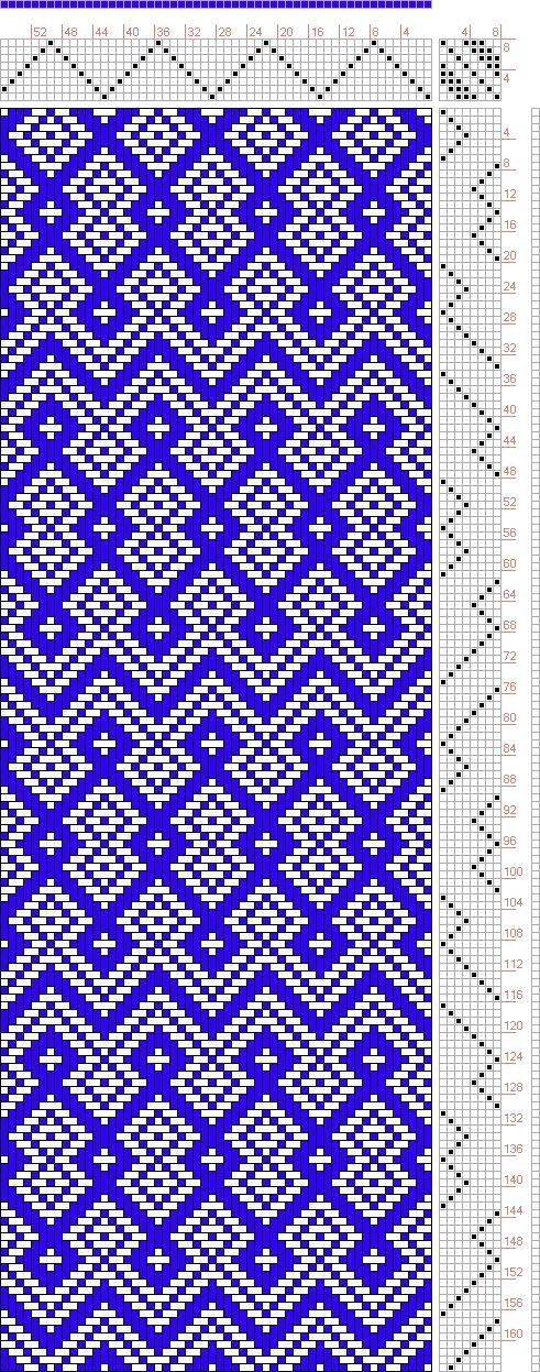 Hand Weaving Draft: Threading Draft from Divisional Profile, Tieup: , Draft #61537, Threading: Ralph Griswold # 162, Treadling: Weber Kunst und Bild Buch, Marx Ziegler, (1677) # 24, 8S, 8T - Handweaving.net Hand Weaving and Draft Archive: