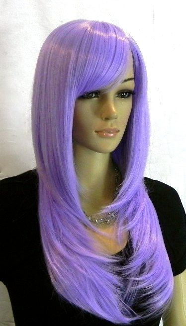 Violet // Beautiful Soft Lavender Purple Wig by ginabarto on Etsy, $50.00