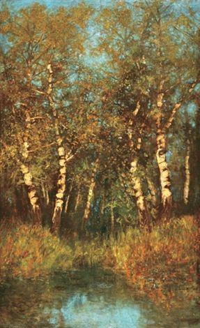 Birch trees by LászlóMednyánszky