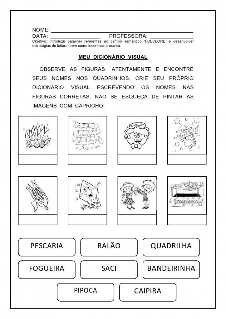 atividade matemática festa junina 2