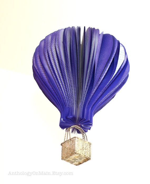 Hot Air Balloon Nursery Decor in Purple Made by AnthologyOnMain