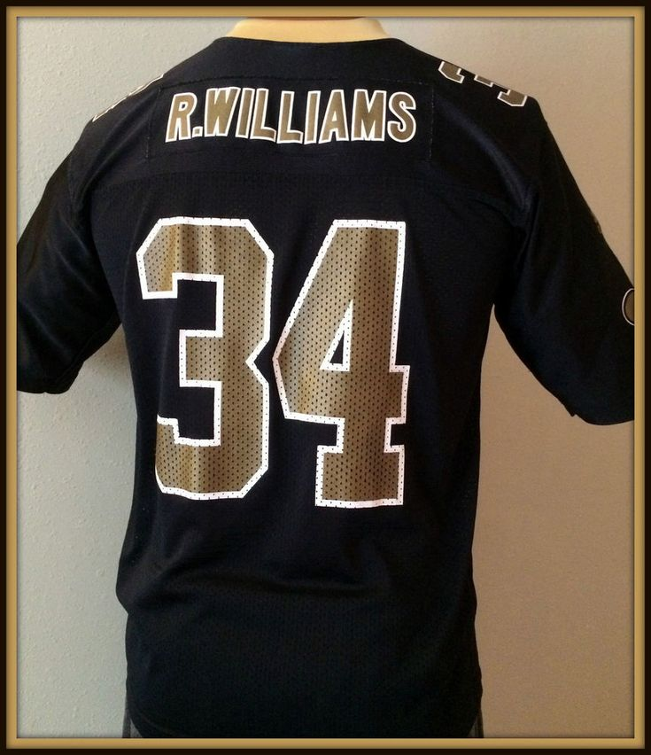 VINTAGE NEW ORLEANS SAINT RICKY WILLIAMS ADIDAS REPLICA JERSEY YOUTH LARGE 14-16 #Reebok #NewOrleansSaints