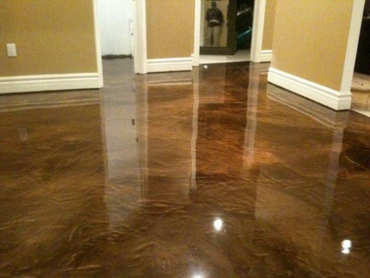 This acid stained concrete floor looks like luxurious for How to clean acid stain floors