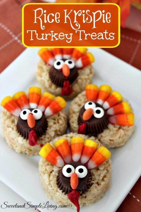 Rice Krispie Turkey Treats Don't you just LOVE rice krispie treats?? I sure do! They take me back to when I was younger. They are delicious just plain, or you can really decorate them and get creative  like these Rice Krispie Turkey Treats! Cute, huh? These are so easy to put together, and the kids […]