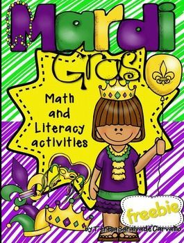 Mardi Gras - FREEBIE meets Common Core Standards for Kindergarten. It includes three math and literacy activities to make learning fun and requires NO-PREP.  If you like this FREEBIE you may also like Mardi Gras - NO PREP. Check it at my store.  This packet includes the following printables:  - Roll and color (roll one die, add one and color)  - Mardi Gras Code (color the hats according to the code)  - Mask (color, circle, trace, write, cut and paste the word)   Enjoy Mardi Gras!