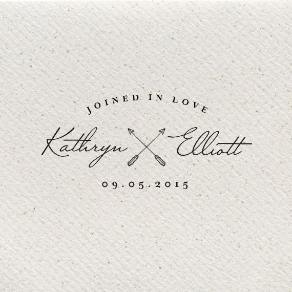 Could be cute with two paddles-----Titania Joined in Love Wedding Logo by southelliott on Etsy