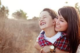 mother and son photo shoot