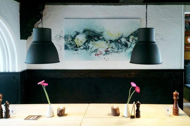 Restaurant art project in Denmark. Abstract art by artist Rikke Darling. Interior project with art  in Copenhagen Denmark. Abstract art. www.rikkedarling.com #contemporaryart #contemporary #darling #artwork #modernart#fineart #malerier #maleri #kunst #art #arte #artgallery #artwork #gallery #galleri #galleries #københavn #kunstgalleri #rikkedarling #artistrikkedarling #copenhagen #denmark #københavn #painting #paintings #abstract #abstrakt #abstractart #nordic #nordicstyle #art #danish