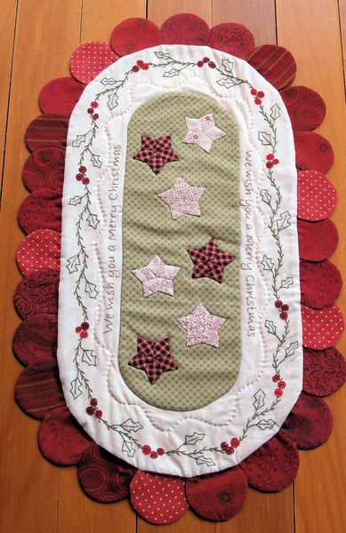A different look for a Christmas table runner