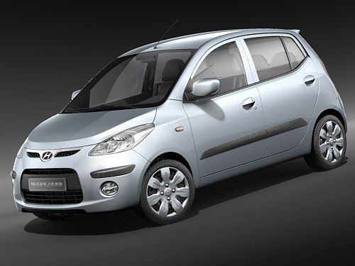 Hyundai I10 10 Car 3D 3Ds - 3D Model