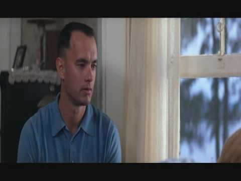 I love this scene of Forrest Gump, it's so sweet and a tear jerker!