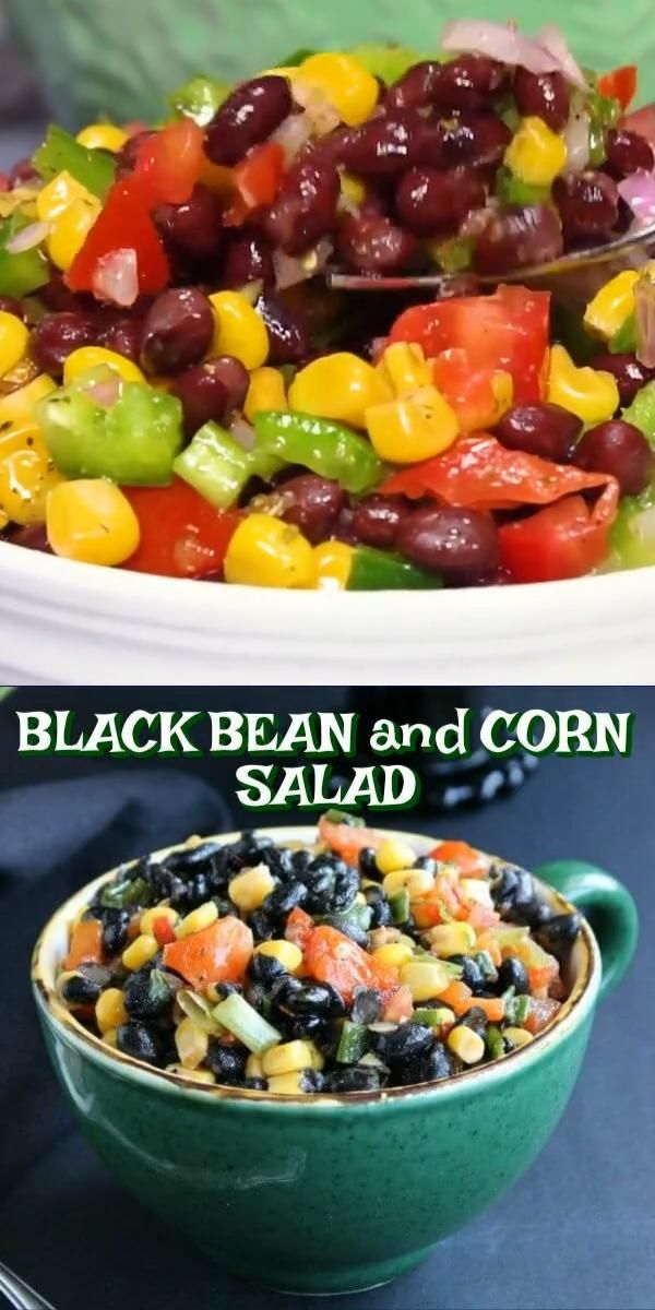 Healthy Black Bean And Corn Salad Video In 2020 Bean Salad Best Salad Recipes Best Corn Salad Recipe