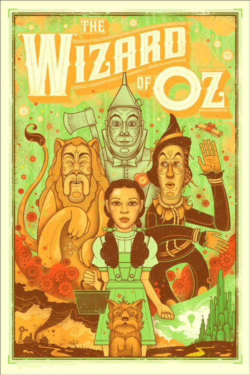 Mondo will release Graham Erwin's poster for The Wizard of Oz today. It's a 24″ x 36″ screenprint, has an edition of 275, and will cost $45....