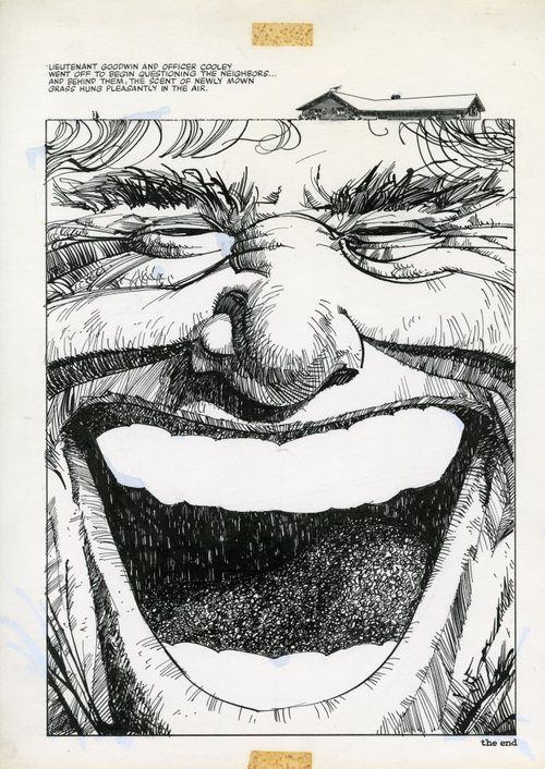 "Final page from the adaptation of Stephen King's ""The Lawnmower Man"" by Walt Simonson from Bizzare Adventures #29."