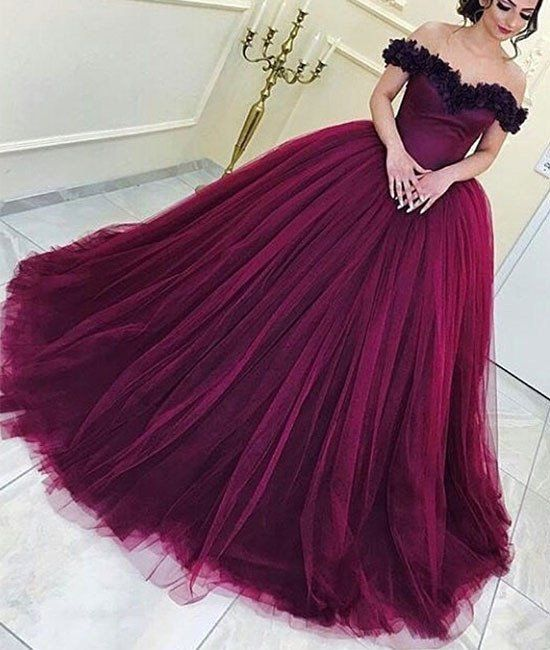 Elegant Prom Dress, Long Prom Dress,Tulle Prom Dresses,
