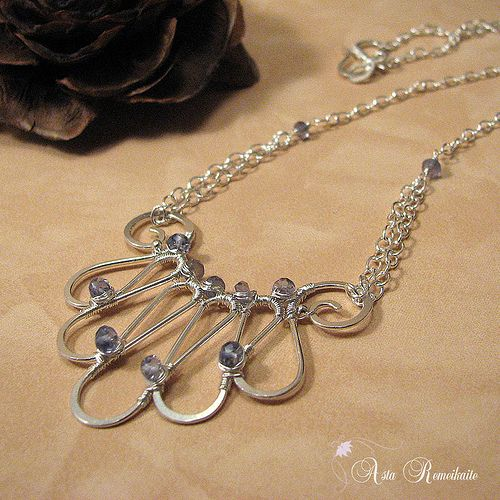 Airily Necklace - Nice wire work!